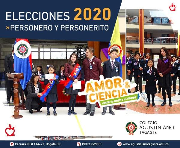 Elecciones personero gobierno escolar 2020 Agustiniano