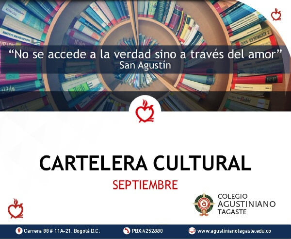 Cartelera cultural biblioteca septiembre 2020